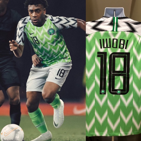 new style b55d2 14362 ⚽️ 2018 Nigeria Jersey IWOBI #18 Soccer World Cup NWT